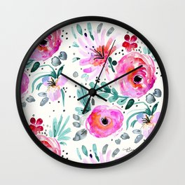 Colby Floral Wall Clock