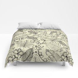 Tropical doodle Comforters