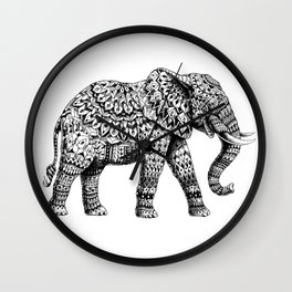 Ornate Elephant 3.0 Wall Clock