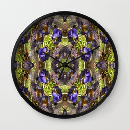 Pansy's on a platter.... Wall Clock
