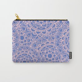 Pink and Mauve Mandala Pattern Carry-All Pouch