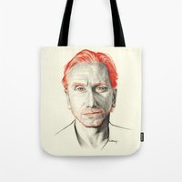 tim shumate Tote Bags featuring Tim Roth by Creadoorm