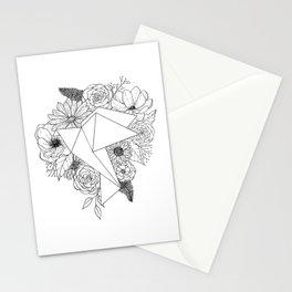 Flower Bird Stationery Cards