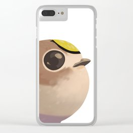 Tiny fat goldcrest Clear iPhone Case