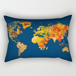 World Map 41 Rectangular Pillow