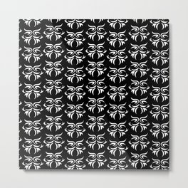 tribal dark - pattern Metal Print