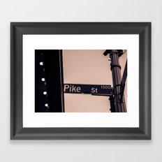 Corner of Pike Framed Art Print