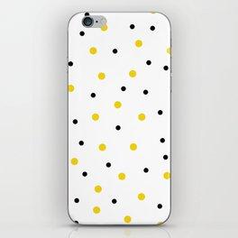 Seamless Black Yellow Dots Pattern iPhone Skin