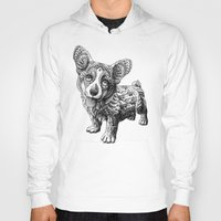 corgi Hoodies featuring Corgi Puppy by BIOWORKZ