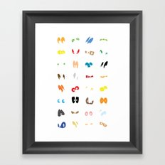 Different Eyes  Framed Art Print