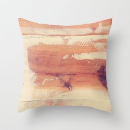 Wood planks shipboard texture Throw Pillow