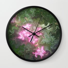 Pretty Love Flowers Wall Clock