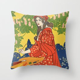 The Quartier Latin: A Magazine Devoted to the Arts Throw Pillow