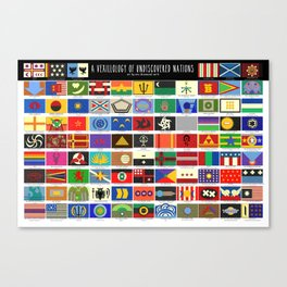 Vexillology of Undiscovered Countries Canvas Print