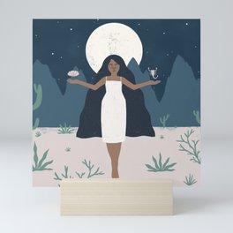desert goddess Mini Art Print
