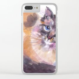 Blue Eyes Clear iPhone Case