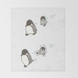 Footprints (w/o background) Throw Blanket