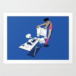 Bullfighter strokes shirt Art Print