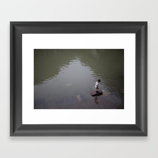 chinese kid Framed Art Print