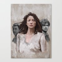 outlander Canvas Prints featuring Outlander by Gabriella McGregor