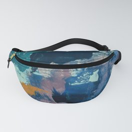 The Peace of Wild Things: a vibrant abstract piece in a variety of colors by Alyssa Hamilton Art Fanny Pack