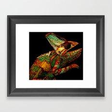 KARMA CHAMELEON Framed Art Print