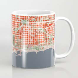 Barcelona city map classic Coffee Mug