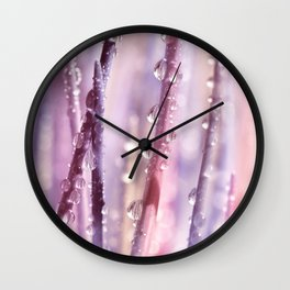 Drops Pink Wall Clock