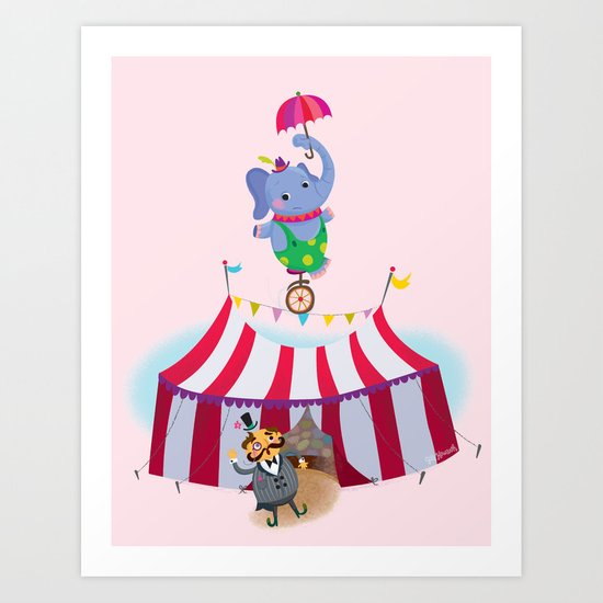 holy high wire! Art Print