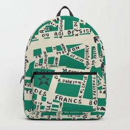 PARIS MAP GREEN Backpack
