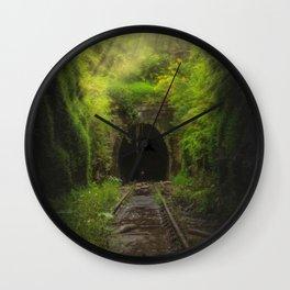 Green Lacuna Wall Clock