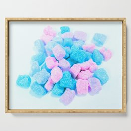 Candy: Pink Turquoise Lavender Gummy Bears Serving Tray