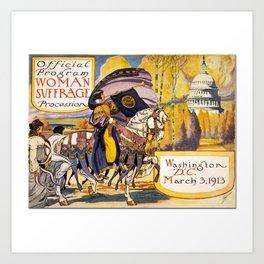 Women's March On Washington, Votes For Women, Women's Suffrage Art Print