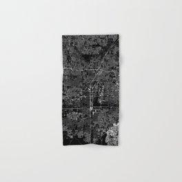 Las Vegas Black Map Hand & Bath Towel