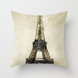 Paris Flea Market Throw Pillow