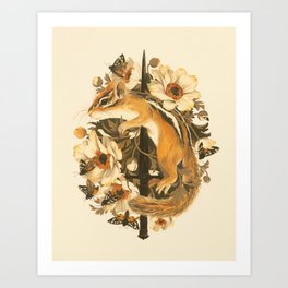 Rites of Moth & Bloom Art Print