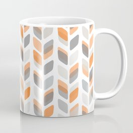 Modern Rectangle Print with Retro Abstract Leaf Pattern Coffee Mug
