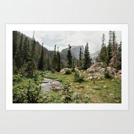 The Colorado Rocky Mountains Art Print
