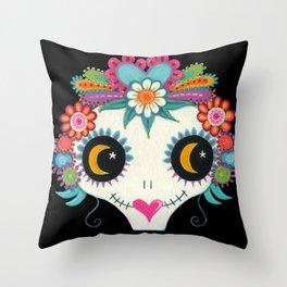 Luna Catrina Throw Pillow