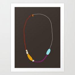 Neon Necklace Art Print