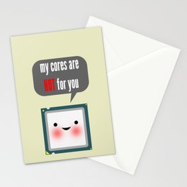 Cute blushing CPU My cores are hot for you Stationery Cards