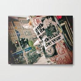 Bowie And Debbie Harry Berlin City Street Metal Print