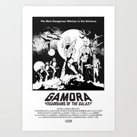 Gamora and the Guardians of the Galaxy Art Print
