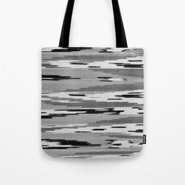 Modern abstract black white ikat pattern Tote Bag