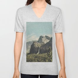 Yosemite Valley Waterfall Unisex V-Neck