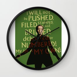 The Prisoner - I Will Not be Pushed Wall Clock