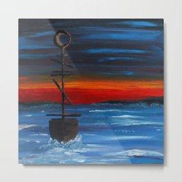 Abstract Sailing Metal Print