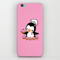 cooking iPhone & iPod Skins featuring Cooking Penguin by joanfriends