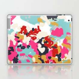 Inez - Modern Abstract painting in bold colors for trendy modern feminine gifts ideas  Laptop & iPad Skin