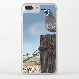 California Quail Clear iPhone Case